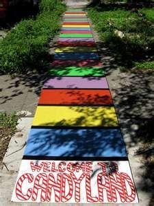 Candyland walkway
