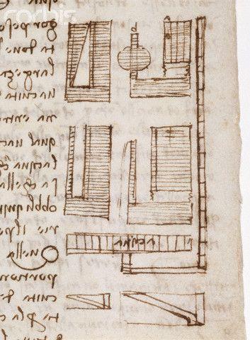 Detail Showing Water Pressure Measurement from Codex Leicester by Leonardo da Vinci   #TuscanyAgriturismoGiratola