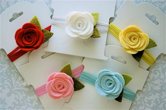 Felt Flower Headband Pick Your Own Posy - Newborn Baby Headbands to Adult My Mondays Child $5.99 + 2.50 (.50 additional items)