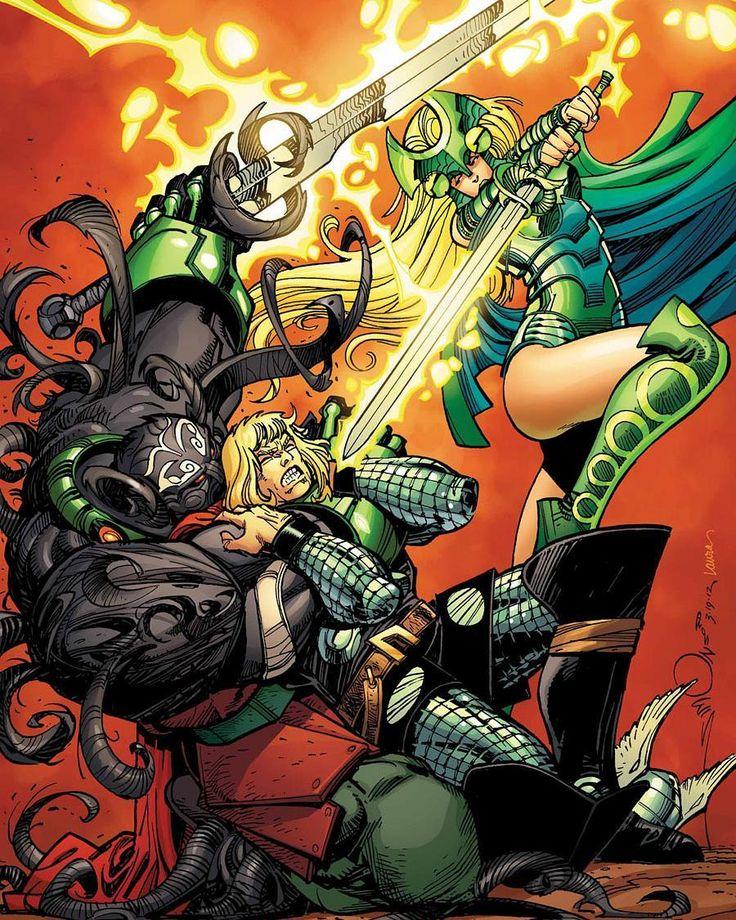 The Mighty Thor 17 Cover. #Amora #AmoraTheEnchantress #Enchantress #MattFraction #WalterSimonson #Thor #TheMightyThor #Avenger #Asgardian #Mjolnir #ThorCorps #ThorRagnarok #Ragnarok #Superheroes #PrinceofAsgard #Asgard #ThorComics #DonaldBlake #Odinson #GodofThunder #TheThunderer #Earth616 #JourneyIntoMystery #Comics #ComicBooks #Marvel #MarvelComics #MarvelUniverse #ComicsDune