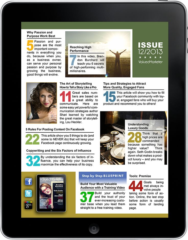 ValuedMarketer Magazine December 2013  More info: magazine.valuedmarketer.com  iTunes: https://itunes.apple.com/us/app/valuedmarketer-magazine-become/id709724297?l=pl&ls=1&mt=8