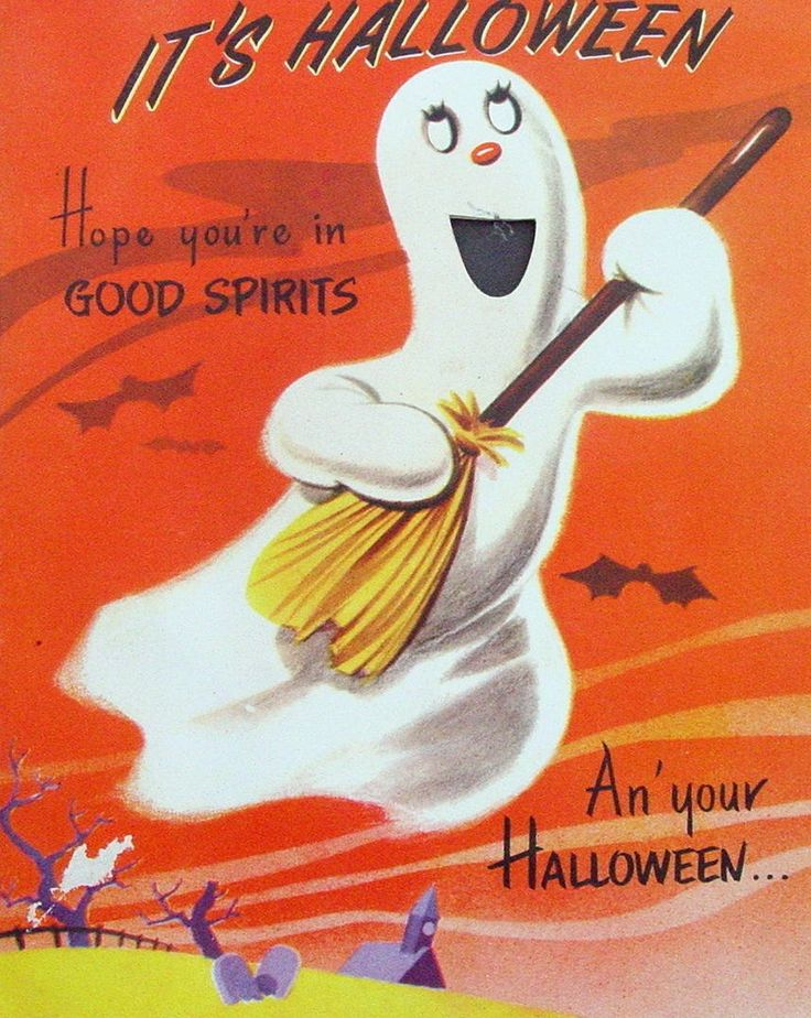 245 Best Retro Halloween Greeting Cards Images On Pinterest