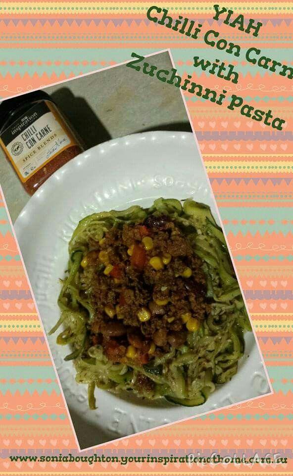 YIAH Chilli Con Carne with Zuchinni Pasta. ...