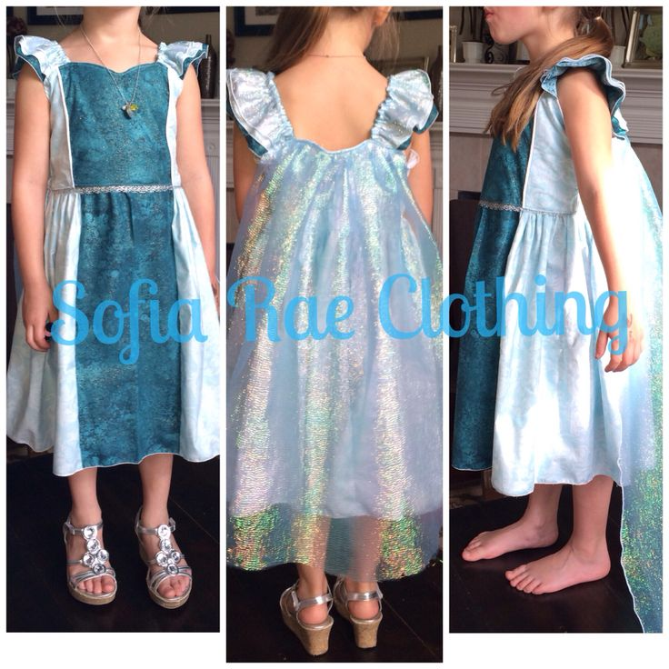 Visit us at: www.facebook.com/sofiaraescloset  Custom Elsa inspired dress
