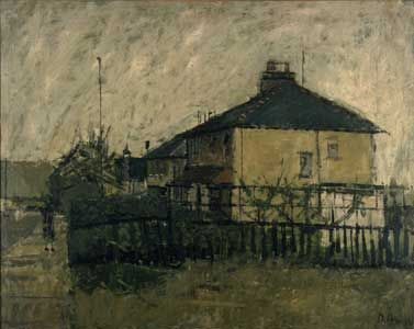 David Hockney Eccleshill, Near Bradford, 1957 oil on board, 20x25 in.