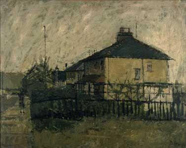 David Hockney Eccleshill, Near Bradford, 1957 oil on board, 20x25 in.