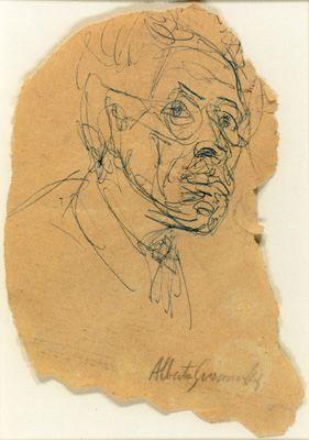 Autoportrait Alberto Giacometti - Collection particulière #Giacometti