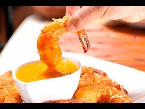 Camarones empanizados con coco y salsa de mango al estilo de Sonia Ortiz por Cocina al natural