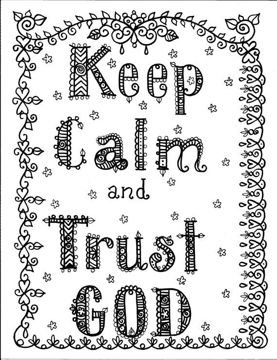 Coloring Book God is Good Inspirational Art to by ChubbyMermaid