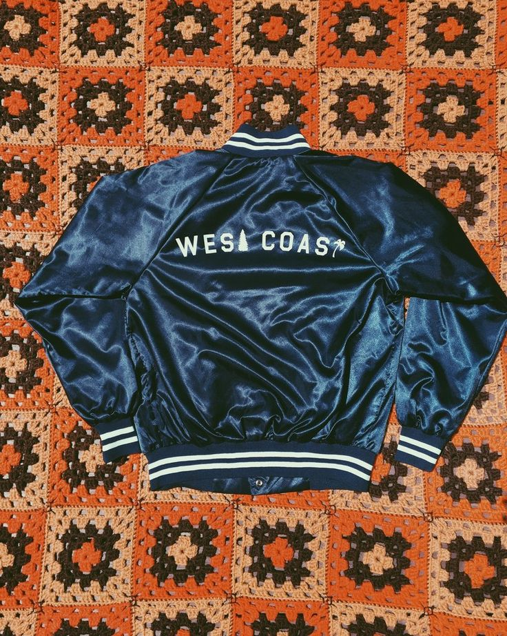 West Coast Jacket Available in navy Sizes S, M, L Printedin USA