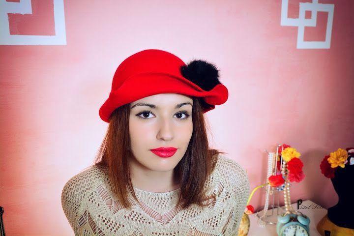 "https://www.facebook.com/LoveMissHat?ref=hl 1930's felt hat#cloche felt hat#red hat# ""the great gatsby"" women hat"