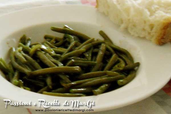 Fagiolini con aceto balsamico