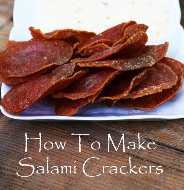 How to make salami crackers. A super easy recipe! Click through for instructions.