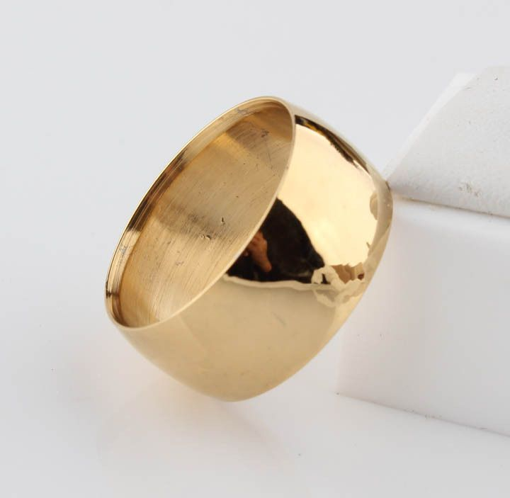 10mm Never fading 18k Classic Engage Wedding rings  yellow Gold Ring filled 316L Titanium steel rings for men and women