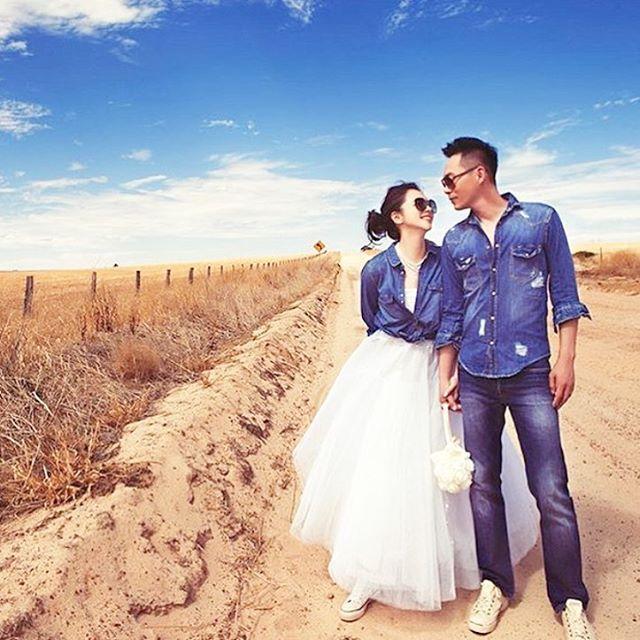 * #ビビアンスー & #ショーンリー を真似したい . 真っ白なウェディングドレスに デニムのシャツやジャケットを合わせて 甘辛ミックススタイルに  . 旦那さんとお揃いのコーディネートを 楽しむのもいいですね ⋆。˚ ⋆。˚ ❁ . . #ウェディングフォト #ロケーションフォト #お揃いコーデ #カップルコーデ #デニム #ウェディングドレス #ドレス #カジュアル #結婚式準備 #プレ花嫁 #marry #marryxoxo