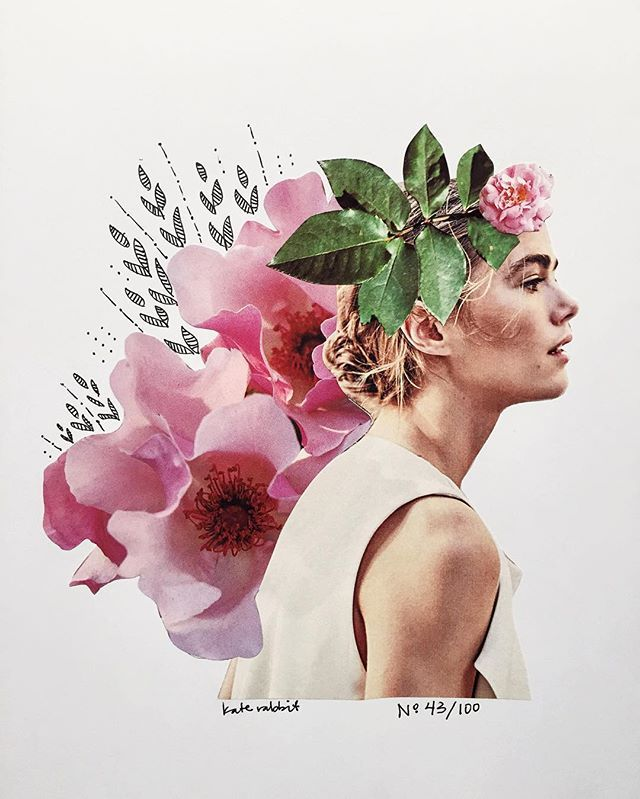 Day 43 of #the100dayproject // dreams of erwin // flower collage