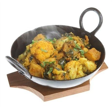 Цветная капуста с картофелем в индийских специях рецепт с фото