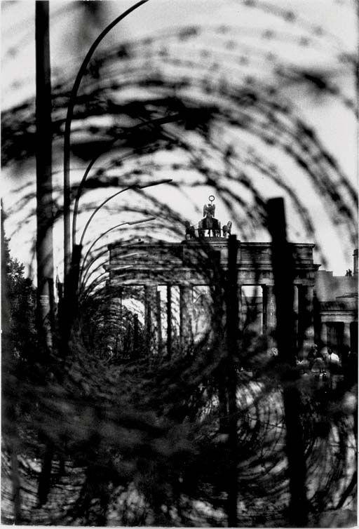 René Burri, Brandenburg Gate with Barbed Wire, Berlin, 1961