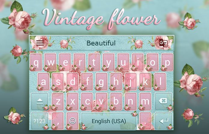 Vintage Flower Theme: A classy vintage Android keyboard theme for Redraw Keyboard! #android #theme #design #wallpaper #keyboard #technology #gadgets #design #redrawkeyboard #vintage #flower #classy