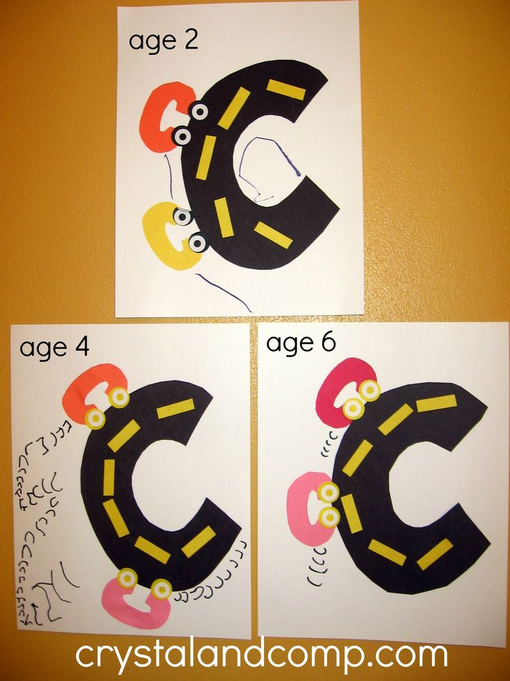 C is for Car: Letter of the Week Preschool Craft