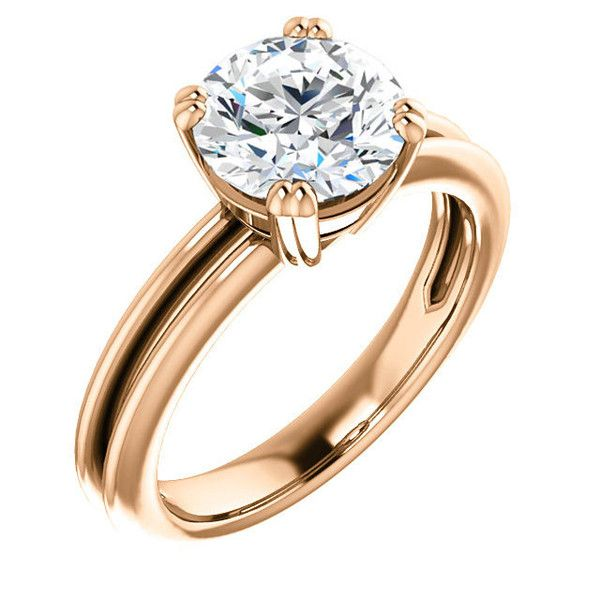 14k Rose Gold 2.0 Ct Round Solitaire Diamond #Engagement #Ring