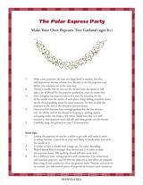 Make Your Own Popcorn Garland | DIY Holiday Crafts | Christmas Printables