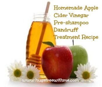 Homemade Apple Cider Vinegar Pre-shampoo Dandruff Treatment Recipe  Great for curly hair! #curlygirl #curlyhairproblems