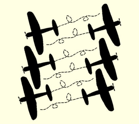 Vinyl Wall Ariplane Kit 6 Airplane Decals by madebytheresarenee, $12.00