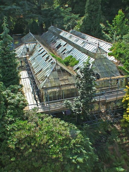 victorian glasshouse, Wentworth Castle, Barnsley, South Yorkshire, England ♦cM