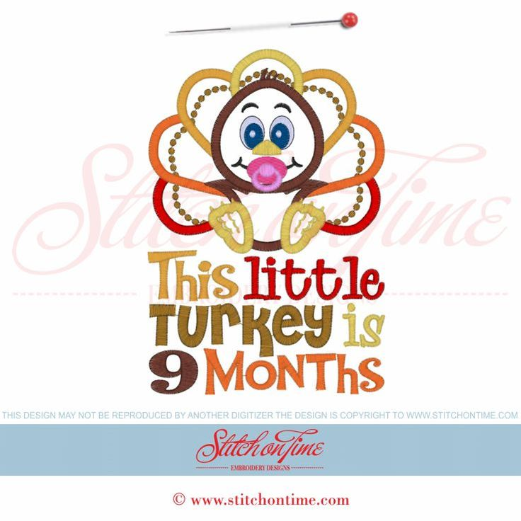 3205 Custom : This Little Turkey Is... Applique 5x7