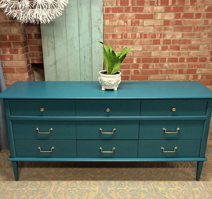 teal dresser gold hardware  SIMPLE REDESIGN - CUSTOM FURNITURE PAINTING - GRAND RAPIDS, MI: SHOP-FINISHED BUY IT NOW