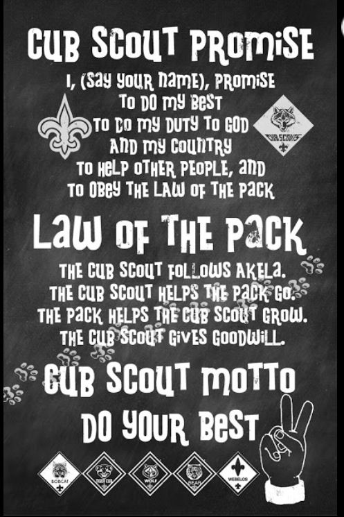 Cub Scout - Promise, Law, Motto I love to hear my son recite this. #PROUDMOM: Printable, Cub Scouts, Cubscout Ideas, Scouts Promi, Copycat Maker, Boys Scouts, Scouts Stuff, Cubs Scouts, Scouts Ideas