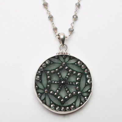 Antique Button Necklace – Fusion Art Glass Online Store