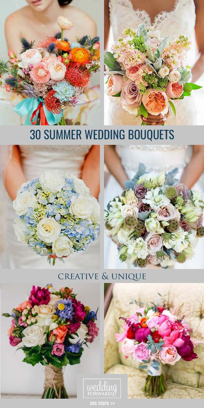 25 swoon worthy spring amp summer wedding bouquets tulle amp chantilly - 30 Gorgeous Summer Wedding Bouquets Summer Brides A Lucky To Have The Most Beautiful Flowers