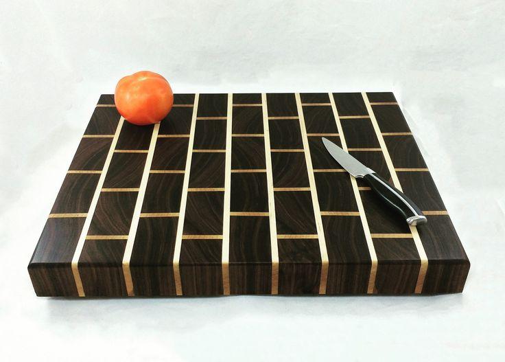Brick Effect End Grain Butcher Block Cutting Board - Unisex Gift - Cook Gift - Retro Kitchen Decor - Anniversary Gift - Housewarming Gift by pieceofshards on Etsy https://www.etsy.com/listing/286459025/brick-effect-end-grain-butcher-block