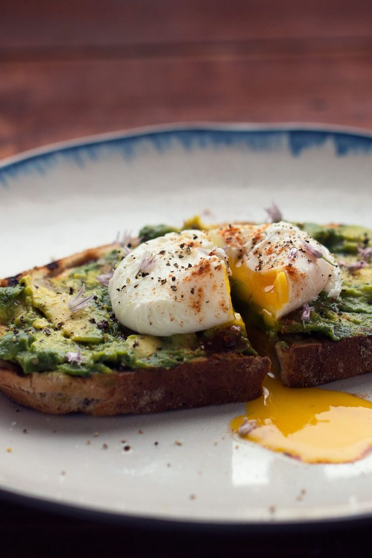 Avocado Toast with Poached Egg Recipe - 237 Calories