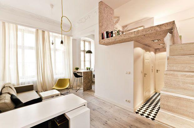 Un monolocale firmato dallo studio 3XA a Breslavia - Living