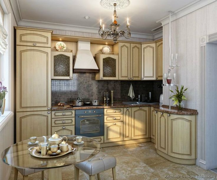 Kitchen of the day traditional whitewashed kitchens for Blue washed kitchen cabinets