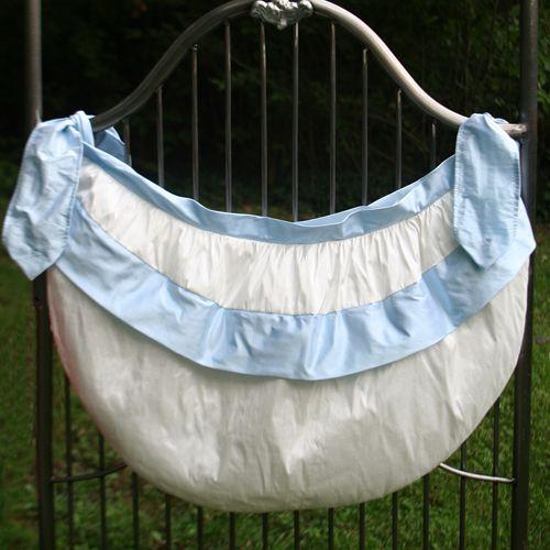 Dupioni Silk Flanged Crib Toy Bag from PoshTots