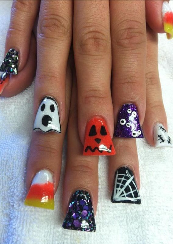Halloween Nails - Best 25+ Duck Feet Nails Ideas On Pinterest Flared Nail Designs