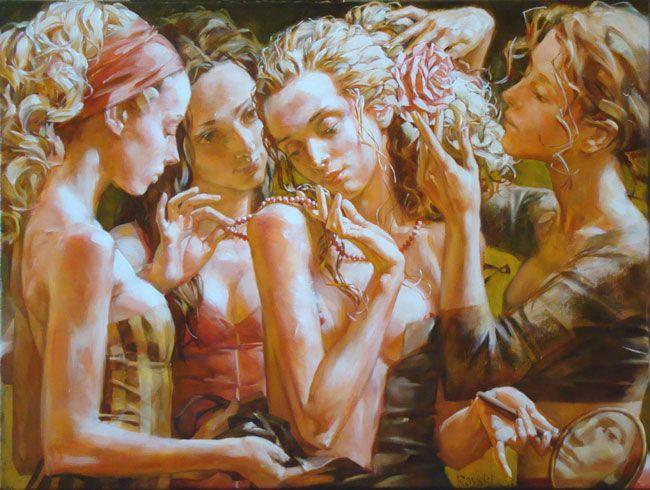 alexej ravski art | Oil on canvas 61.00 x 38.00 cm