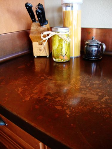 Copper Kitchen Countertop As Art | | Blissfully DomesticBlissfully Domestic