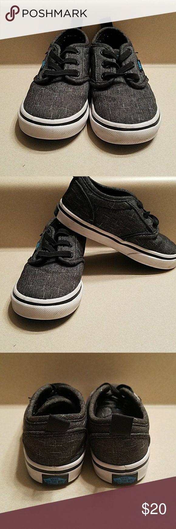 Toddler  boys vans shoes sz 8 Toddler boys vans  sz 8 color is black  and gray Vans Shoes Sneakers