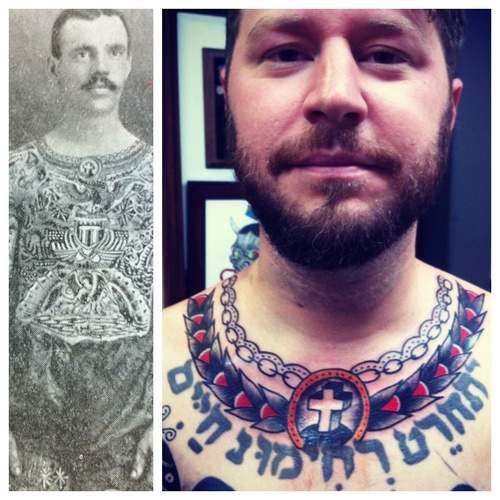 Collar tattoos: Necklaces, chains, ropes, wreaths NO SCRIPT PLEASE 3 | Tattoo Designs, Books and Flash | Last Sparrow Tattoo