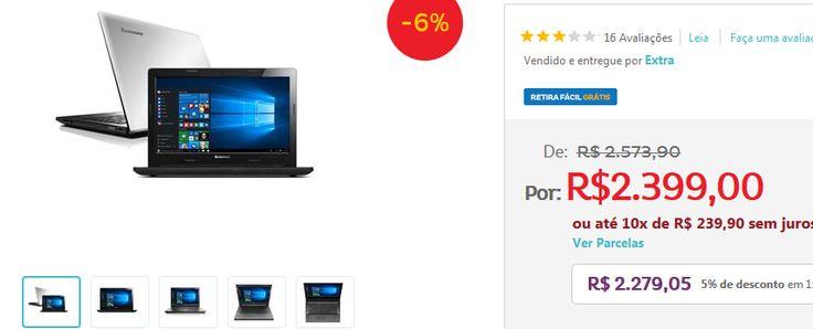 Notebook Lenovo G40-80 Intel i5-5200U 4GB 1TB HDMI Tela 14  Placa de Video Radeon R5 M230 2GB << R$ 227905 >>