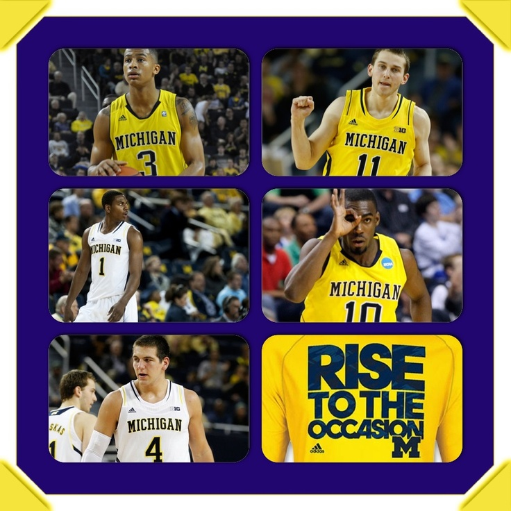 Michigan Wolverines basketball 2012/2013. Michigan has made it all the way to the Final Four now all they have to do is beat Syracuse at Atlanta,Georgia then they can move on to the NCAA National Championship game and hopefully win it!!  WE ON. RISE TO THE OCCASION.