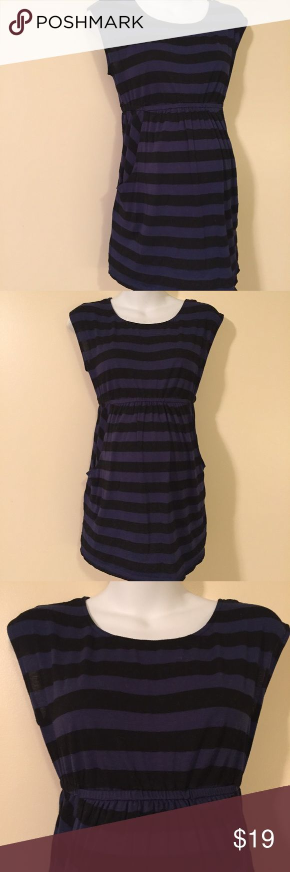 Pea in a pod maternity tunic dress top medium Great condition maternity tunic/mini dress great with some skinny jeans or perfect as a swim cover-up! By Pea in a pod!!! Super cute pockets :) bundle for savings A Pea in the Pod Tops Tunics