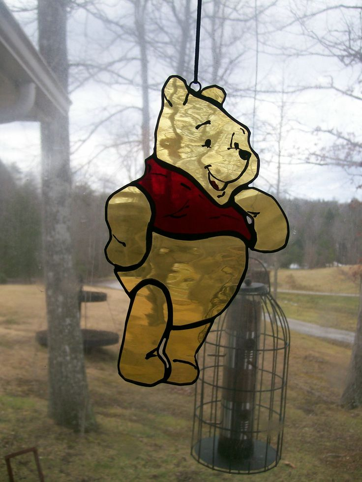 stained glass Winnie the Pooh
