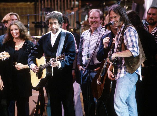 June Carter Cash Bob Dylan Neil Young and friends