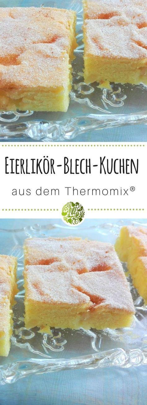 Eierlikörkuchen vom Blech aus dem Thermomix® – Kuchen und Torten